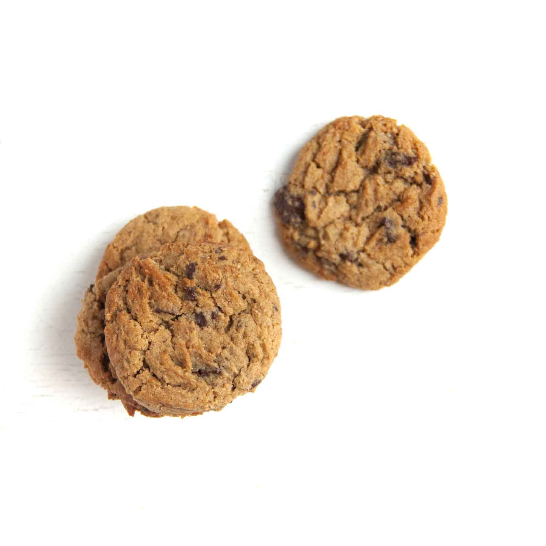 Økologisk cookie med chokolade fra Mirabelle Bakery. Organic chocolate cookie from Mirabelle Bakery.