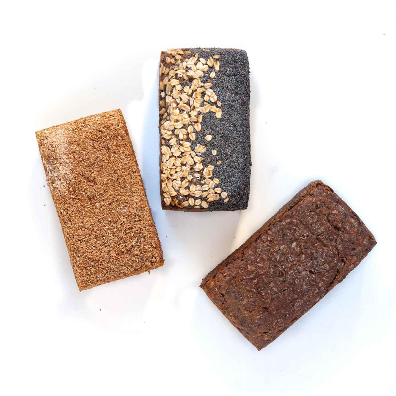 Økologisk rugbrød fra Mirabelle Bakery. Organic rye bread from Mirabelle Bakery.